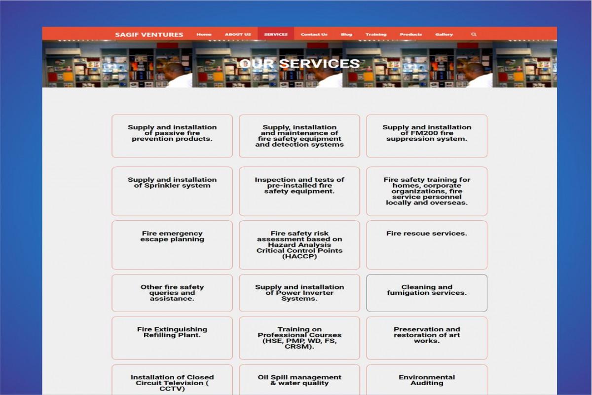 Sagif Corprate Website