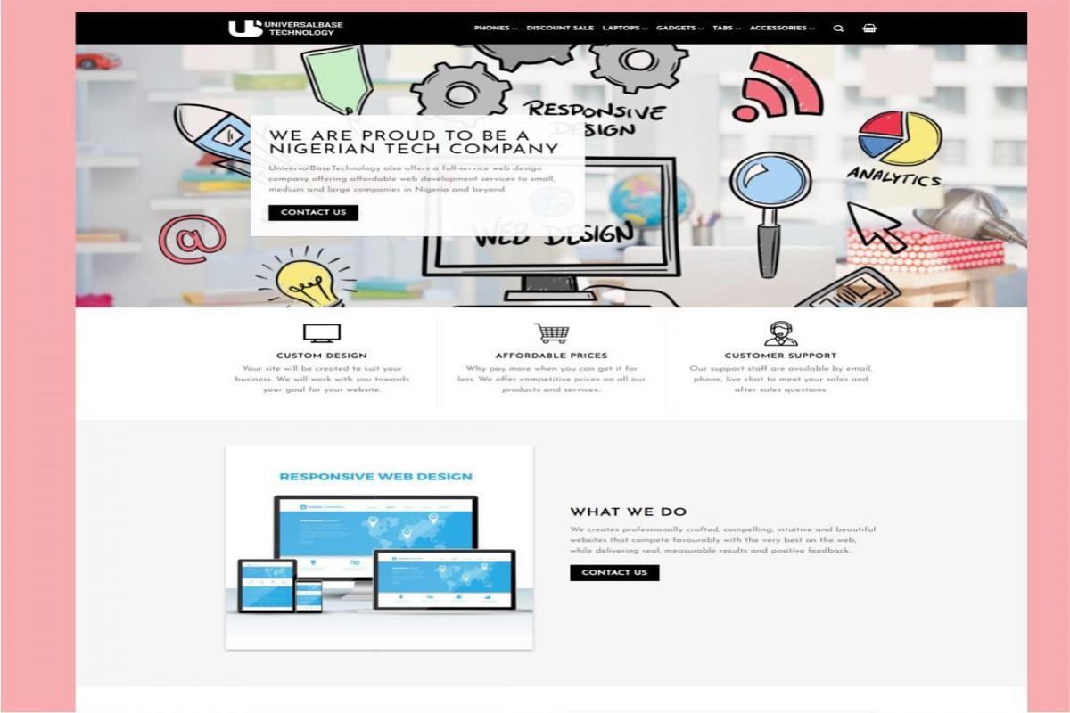 Universal Technology Ecommerce Website